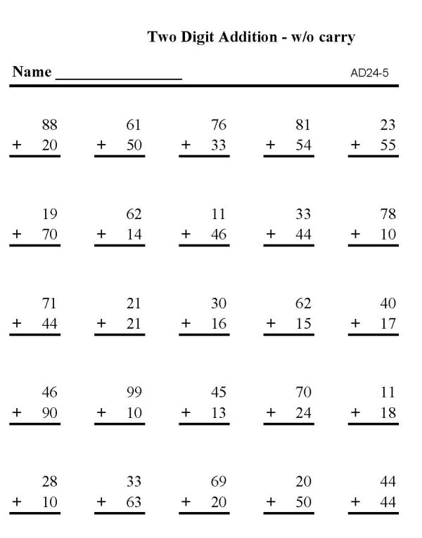 BlueBonkers - Printable Math Addition practice Sheets: Addition ...