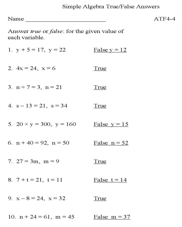 Printables Algebra Practice Worksheet printables algebra practice worksheets safarmediapps bluebonkers truefalse p1 solution free printable worksheet math skills she