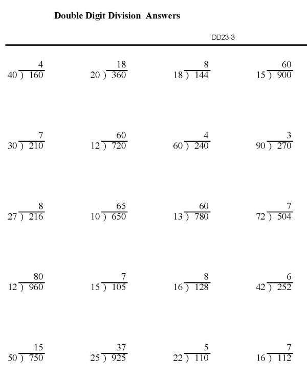 BlueBonkers : Division worksheets - Double Digit Division p3 ...