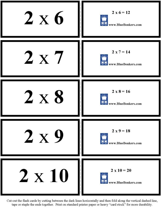 BlueBonkers   Free Printable Multiplication Flash Cards   ONES 1 5 p1 rax2ALC0
