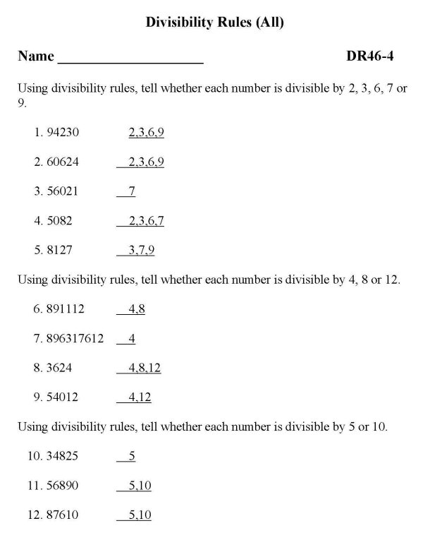 image about Divisibility Rules Printable named BlueBonkers - No cost Printable Math Divisibility Recommendations (All