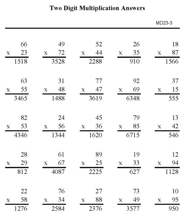 Common Worksheets » Multiplication With Double Digits - Preschool ...
